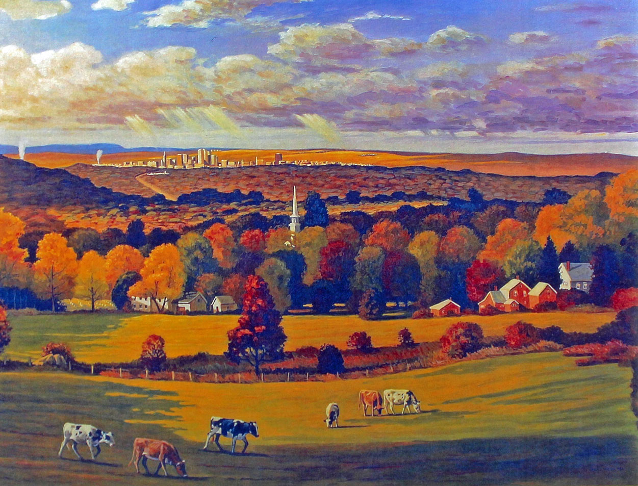 Meetinghouse Hill by Hans Weiss